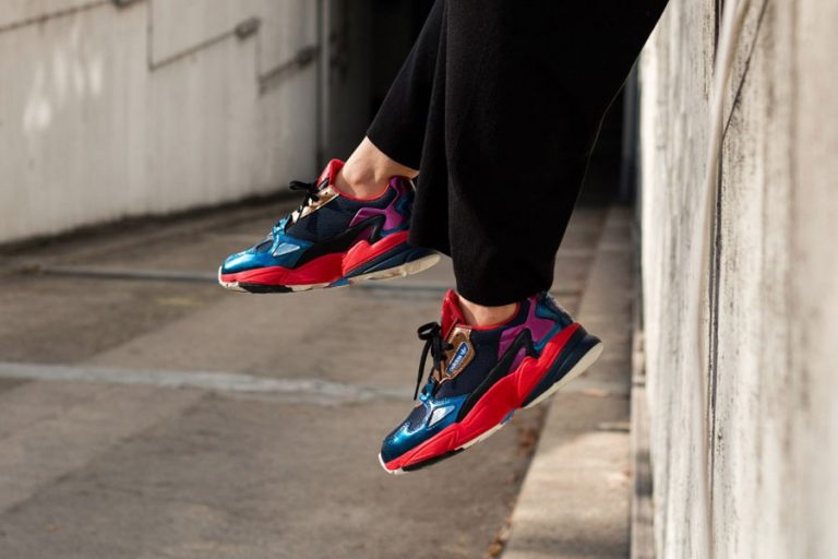 adidas Falcon W Patent Leather - Collegiate Navy Red (CG6632) - 1