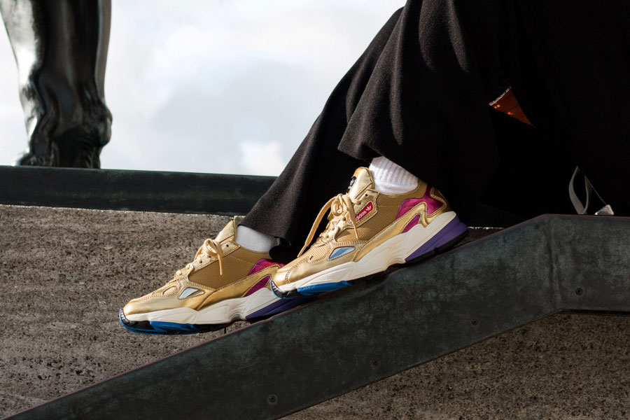 adidas Falcon W Patent Leather - Gold Met Off White (CG6547) - 1