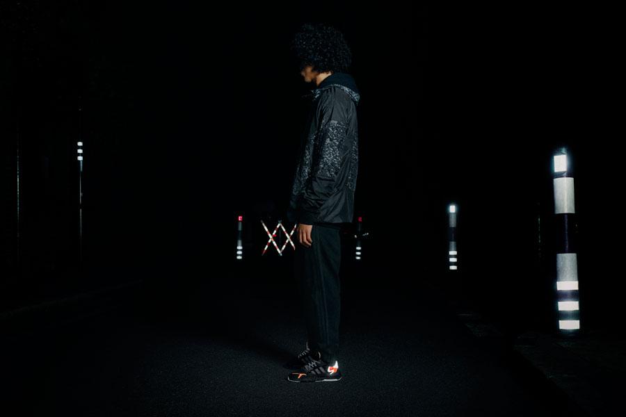adidas NITE JOGGER Core Black Carbon Active Blue (CG7088) - On feet 2