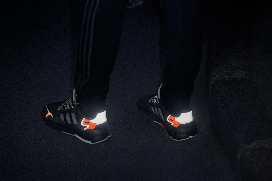 adidas NITE JOGGER Core Black Carbon Active Blue (CG7088) - On feet 3 23f318e53