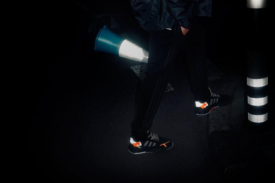 adidas NITE JOGGER Core Black Carbon Active Blue (CG7088) - On feet 4