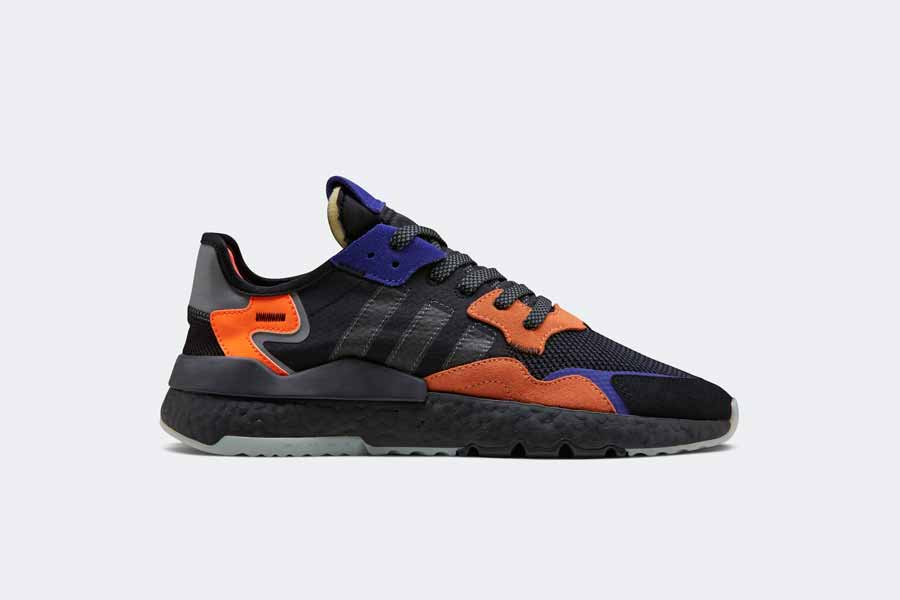 adidas NITE JOGGER Core Black Carbon Active Blue (CG7088) - Side