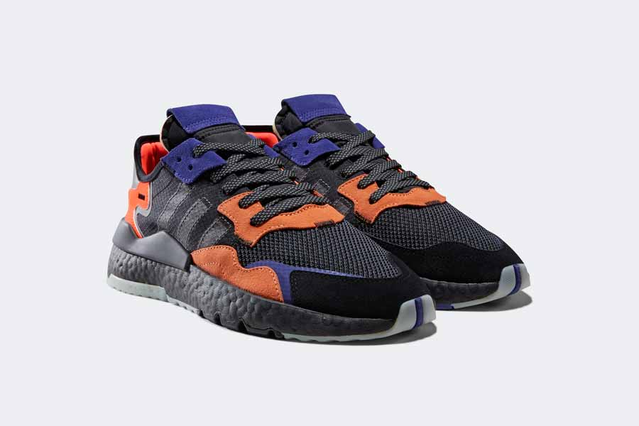 adidas NITE JOGGER Core Black Carbon Active Blue (CG7088)