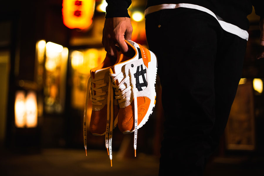 Afew x BEAMS x ASICS GEL-LYTE III Orange Koi - Capsule Collection 6