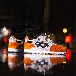 Afew x BEAMS x ASICS GEL-LYTE III Orange Koi - On feet