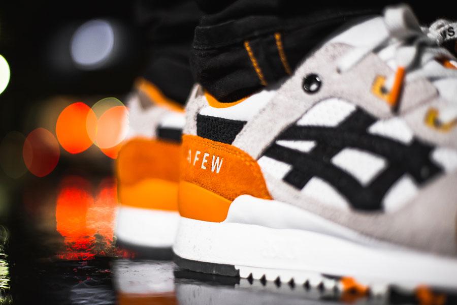 Afew x BEAMS x ASICS GEL-LYTE III Orange Koi - On feet (Detail)