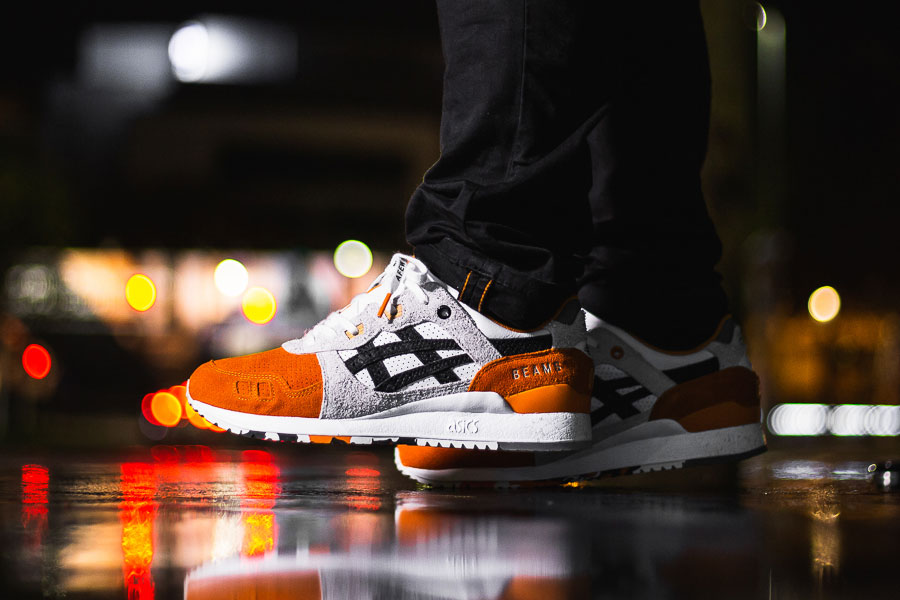 Afew x BEAMS x ASICS GEL LYTE III Orange Koi | Sneakers Magazine