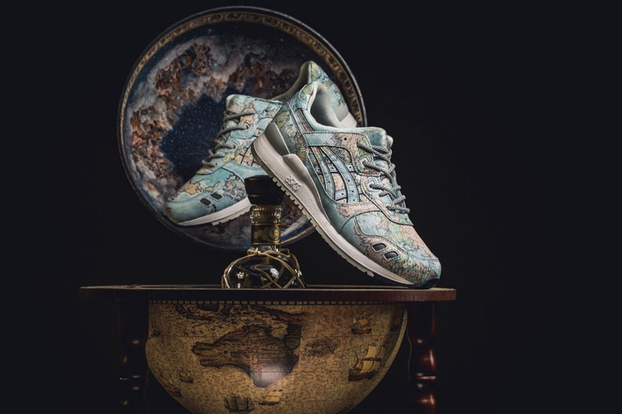 atmos x ASICS GEL-LYTE III World Map (1191A197-400) - Mood 1