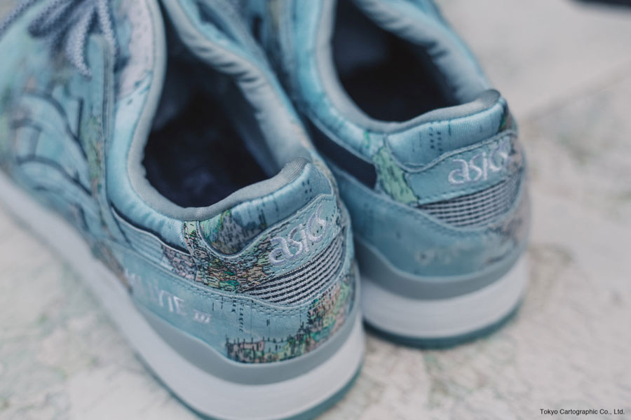 atmos x ASICS GEL-LYTE III World Map - Back