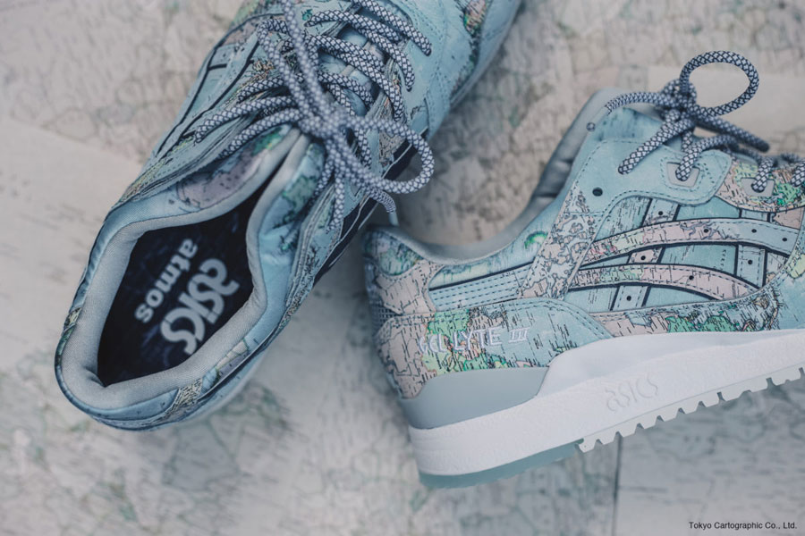 atmos x ASICS GEL-LYTE III World Map - Mood 1