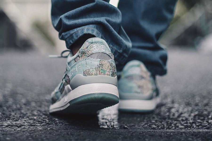 atmos x ASICS GEL-LYTE III World Map - On feet 2