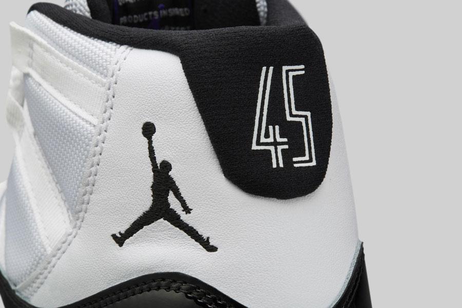 Nike Air Jordan 11 Concord 2018 Retro (378037-100) - Heel