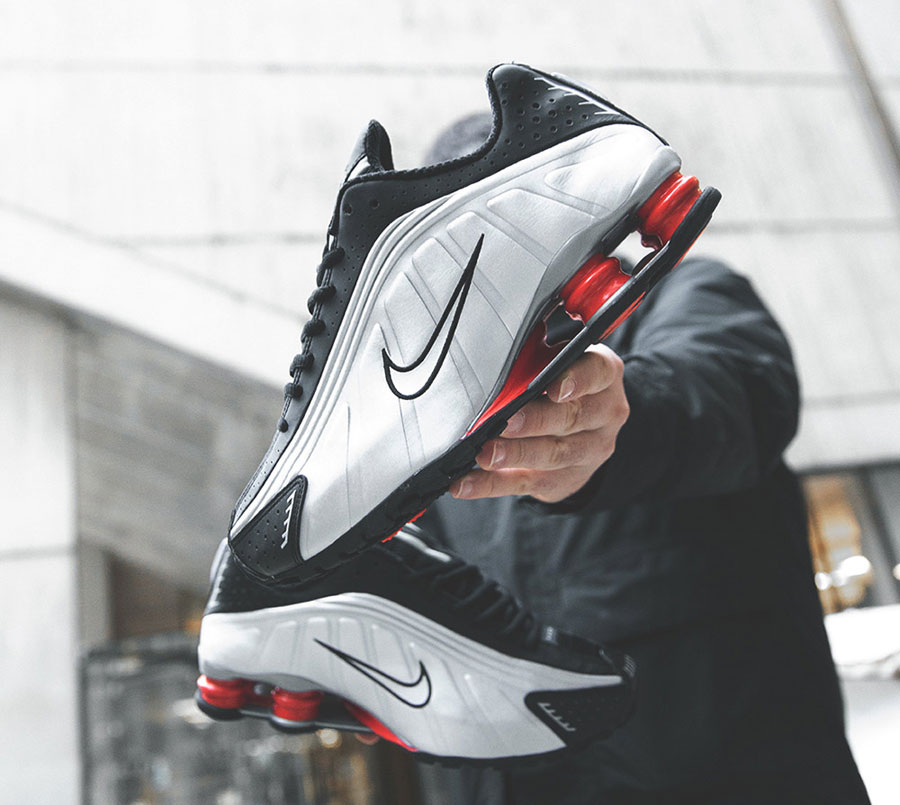 Nike Shox R4 Silver Black Red (BV1111-008) - Mood 7