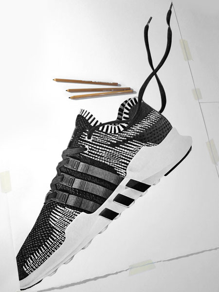 Steph Morris - Sneaker Illustrations (adidas EQT)
