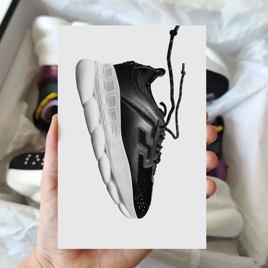 Steph Morris - Sneaker Illustrations (Versace Chain Reaction)
