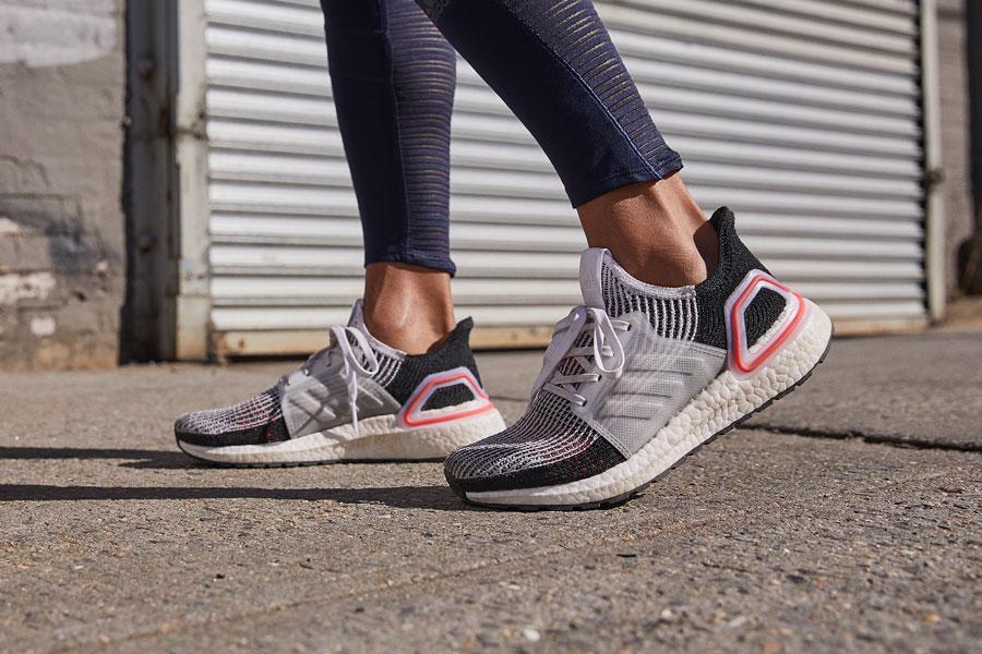 adidas UltraBOOST 19 Laser Red (B37703) - On feet 2