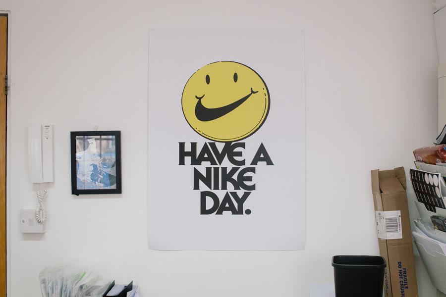 Alex Hackett miniswoosh - Nike Poster