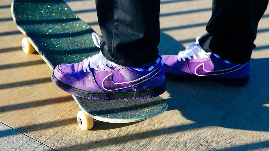 CONCEPTS x Nike SB Dunk Purple Lobster - On feet