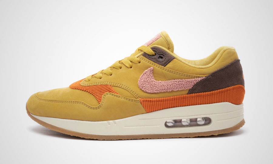 Nike Air Max 1 Bacon (CD7861-700) Wheat Gold Rust Pink Baroque Brown - Left
