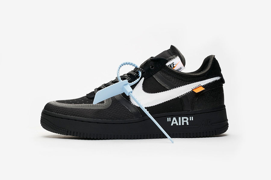 OFF-WHITE x Nike Air Force 1 Low Black (AO4606-001) - Side