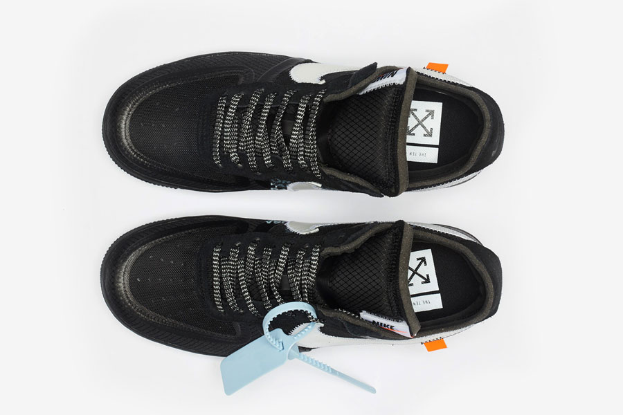 OFF-WHITE x Nike Air Force 1 Low Black (AO4606-001) - Top