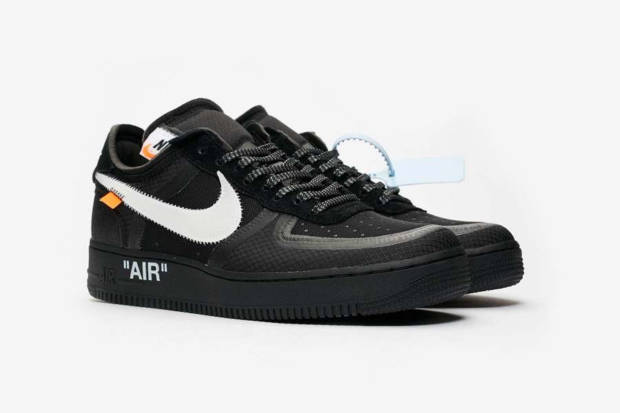 OFF-WHITE x Nike Air Force 1 Low Black (AO4606-001)