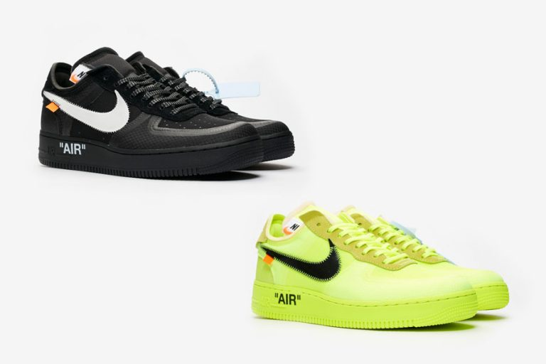 OFF-WHITE x Nike Air Force 1 Low Black Volt
