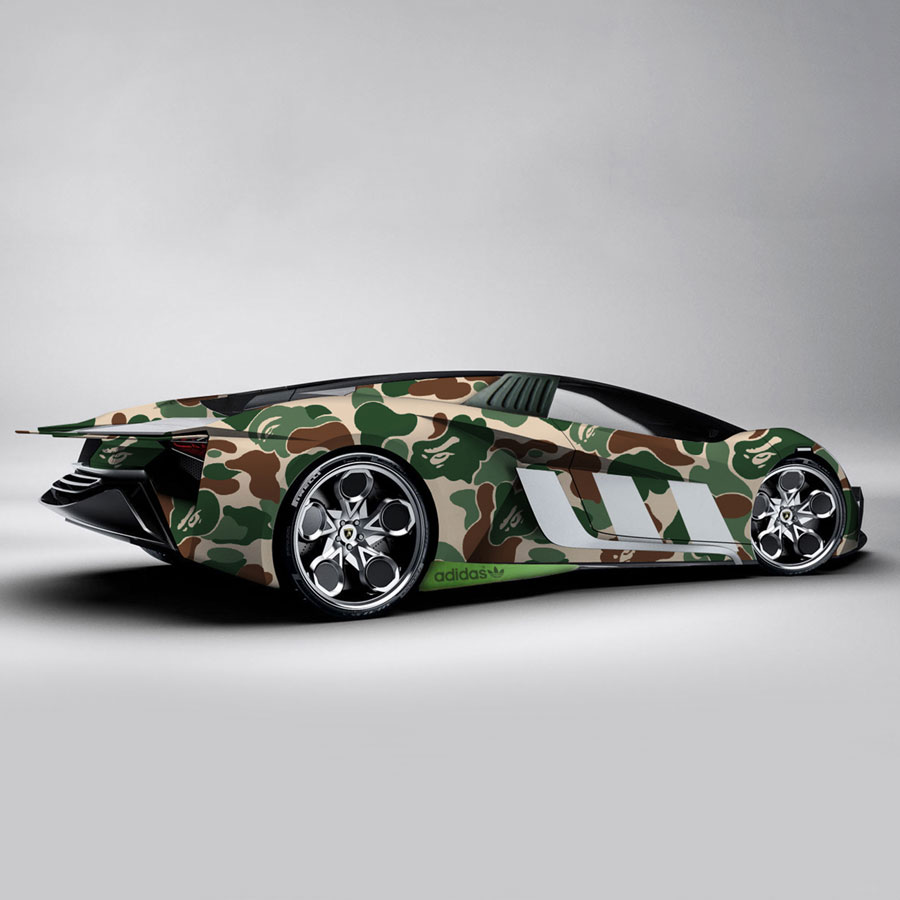 Visual Artist Jeff Cole - BAPE adidas Lamborghini