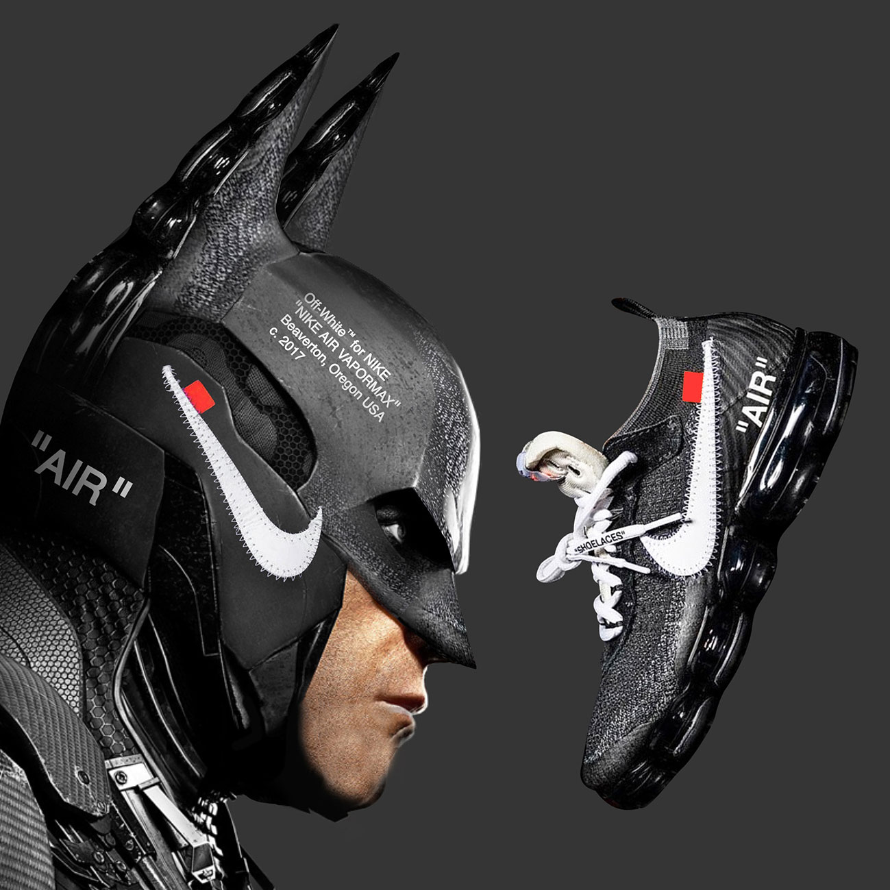 Visual Artist Jeff Cole - Batman OFF-WHITE Nike Air VaporMax