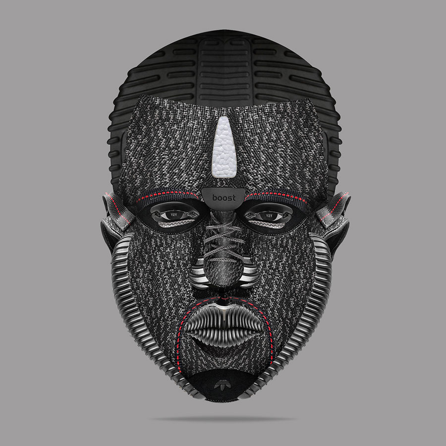 Visual Artist Jeff Cole - YEEZY Face Pirate Black