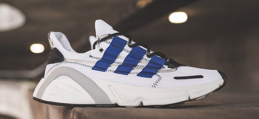 the latest 03032 ae09f adidas LXCON Adiprene Ftwr White Active Blue Core Black (DB3528) - Mood 1