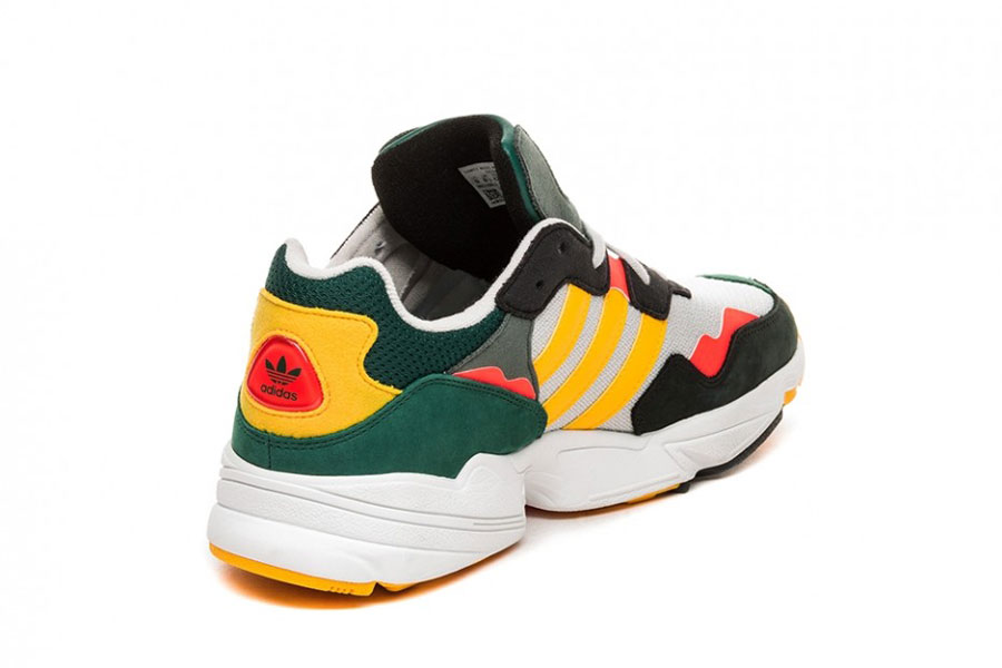 adidas Yung-96 Grey One Bold Gold Solar Red (DB2605) - Back