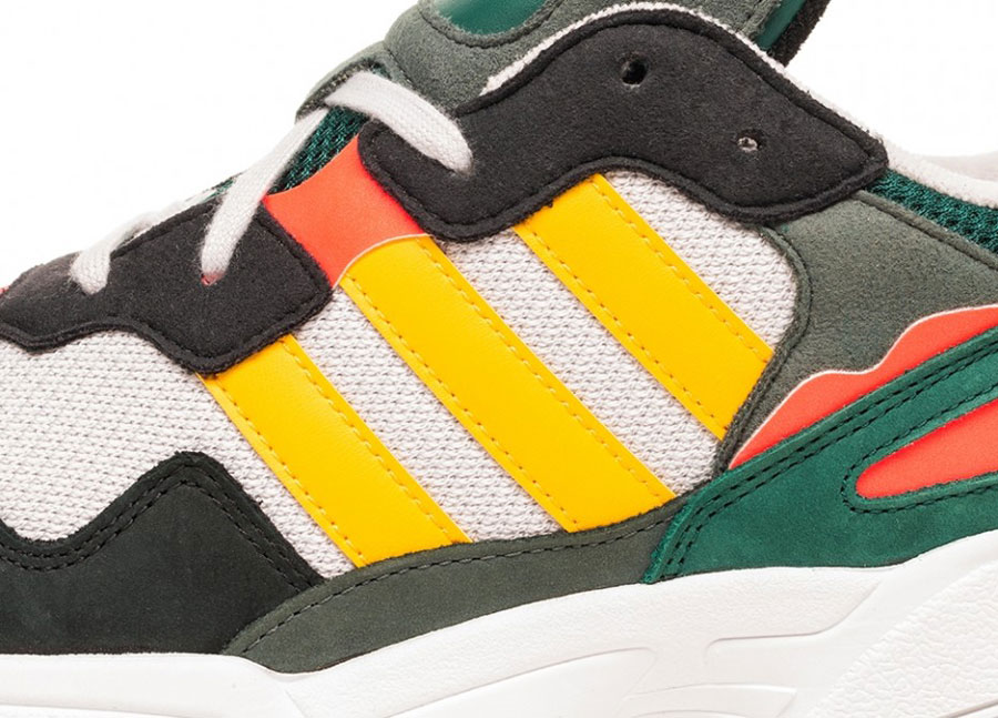 adidas Yung-96 Grey One Bold Gold Solar Red (DB2605) - Logo