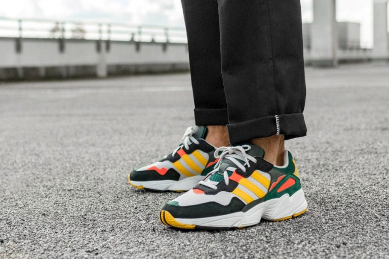 adidas Yung-96 Grey One Bold Gold Solar Red (DB2605) - Mood 2