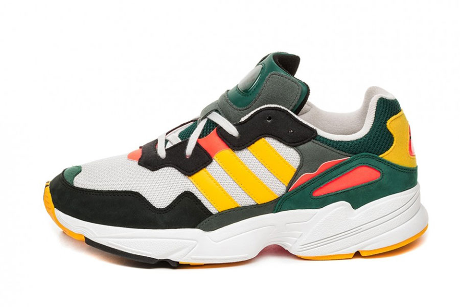 adidas Yung-96 Grey One Bold Gold Solar Red (DB2605) - Side