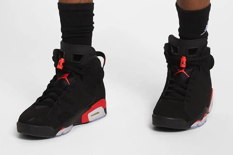 Nike Air Jordan 6 Black Infrared (384664-060) 2019 Retro - On feet 1