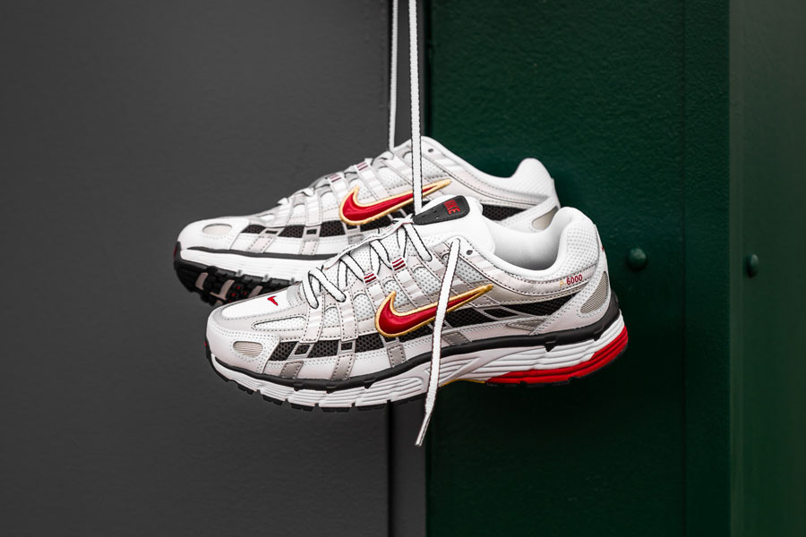 Nike WMNS P-6000 White Varsity Red Metallic Platinum (BV1021-101) - Mood 1
