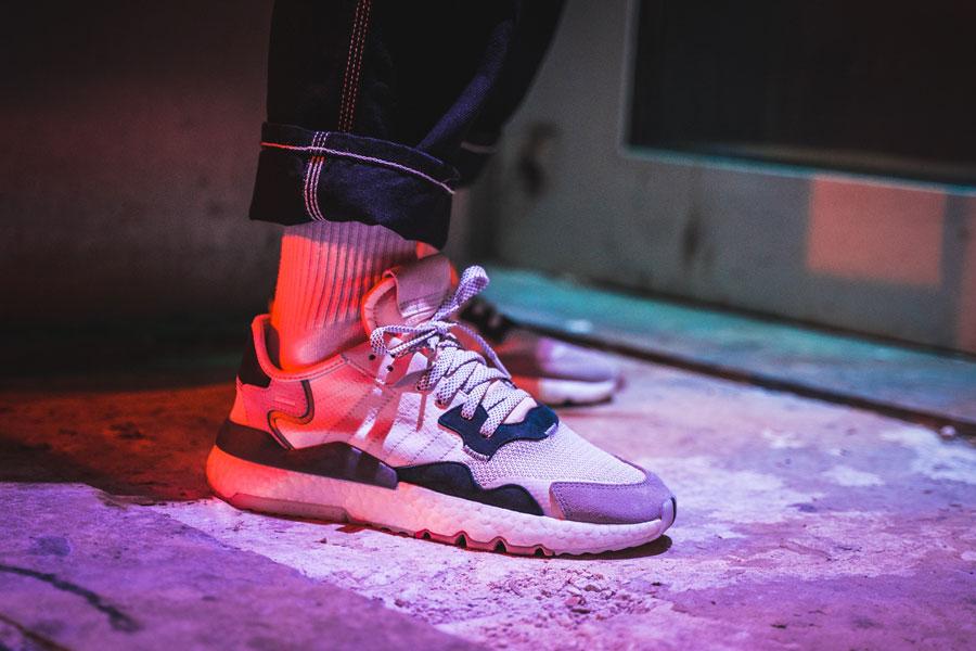 adidas Nite Jogger Footwear White Cry White (CG5950) - Mood 2