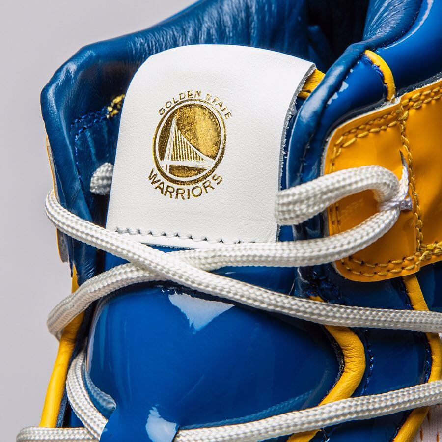 Air Jordan 1 Golden State Warriors Custom by The Shoe Surgeon - Mood 2