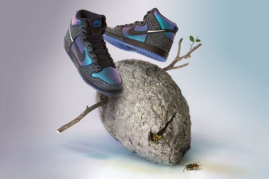 Black Sheep x Nike SB Dunk High QS Black Hornet 3