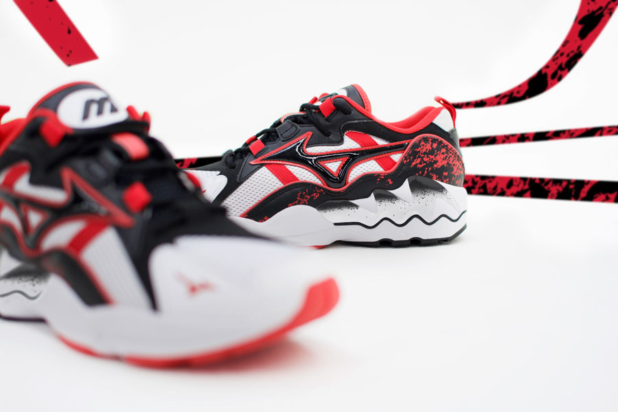 Mizuno 90s Athletic Collection - Wave Rider 1 High Risk Red 2