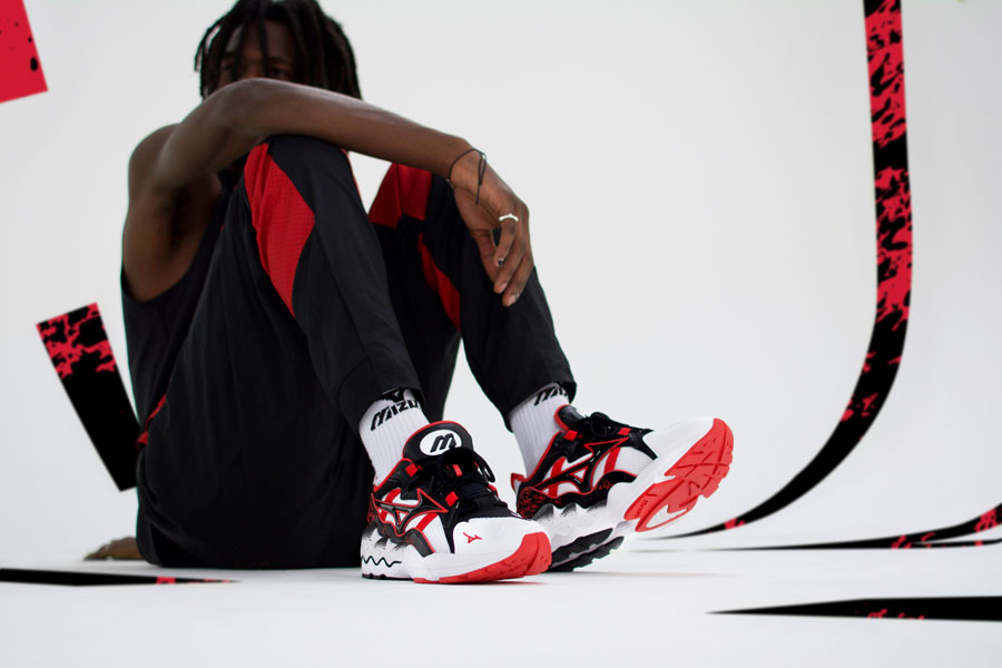 Mizuno 90s Athletic Collection - Wave Rider 1 High Risk Red 3