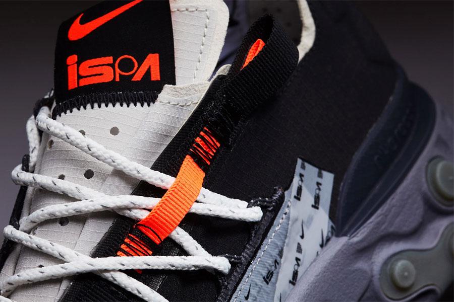 Nike React WR ISPA Black Metallic Silver (AR8555-001) - Mood 2