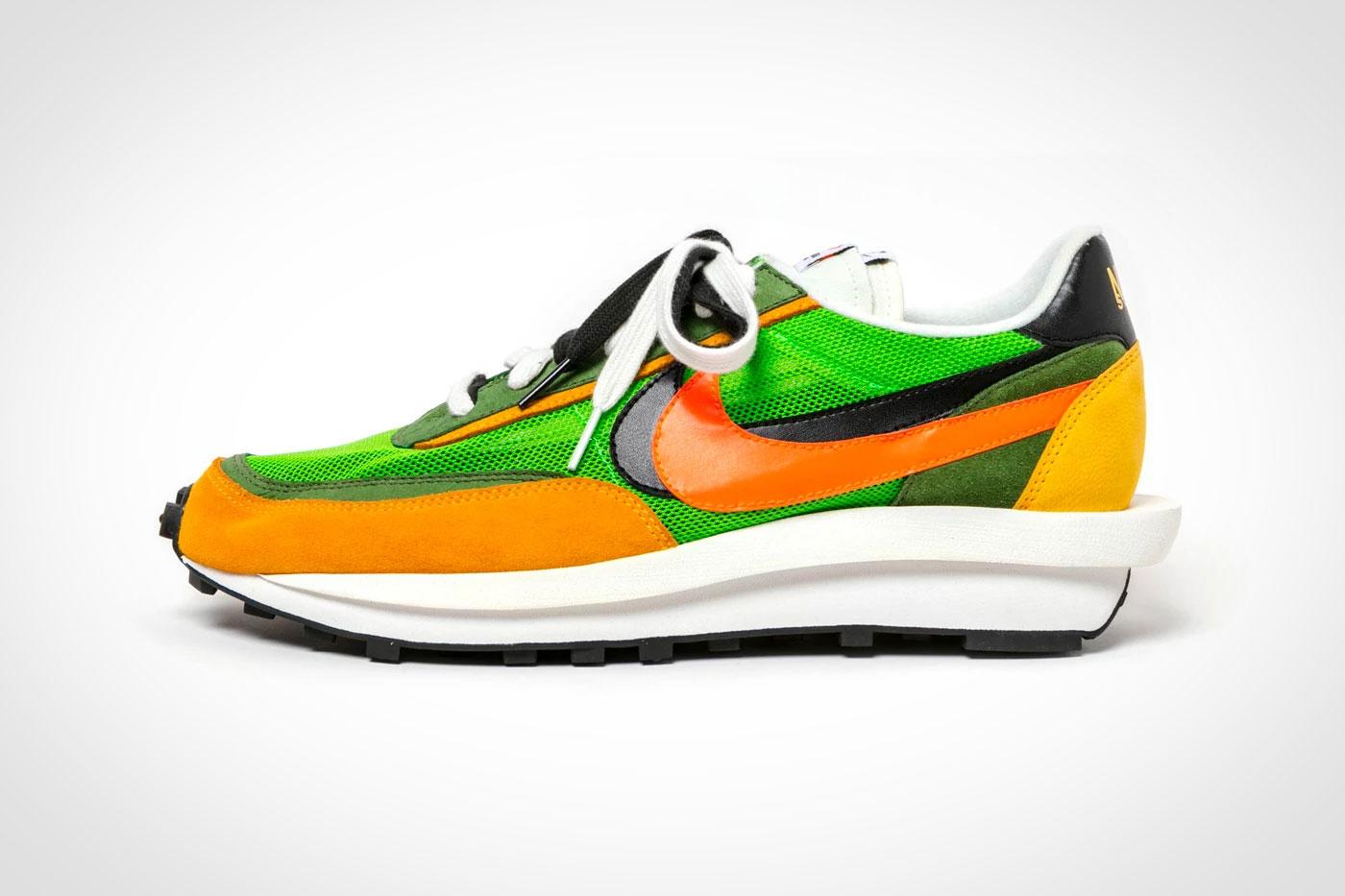 sacai x Nike LDV Waffle Daybreak (Green Gusto Black Varsity Maize Safety Orange) 1