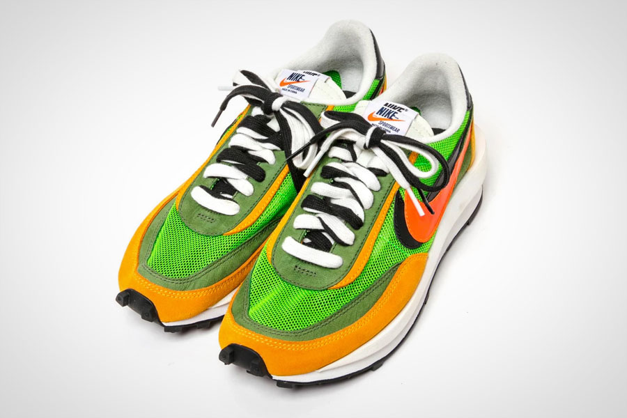 sacai x Nike LDV Waffle Daybreak (Green Gusto Black Varsity Maize Safety Orange) 2