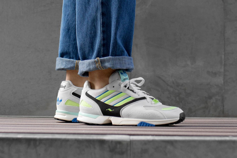 adidas ZX 4000 Crystal White Semi Solar Yellow Core Black (G27899) - Mood 1