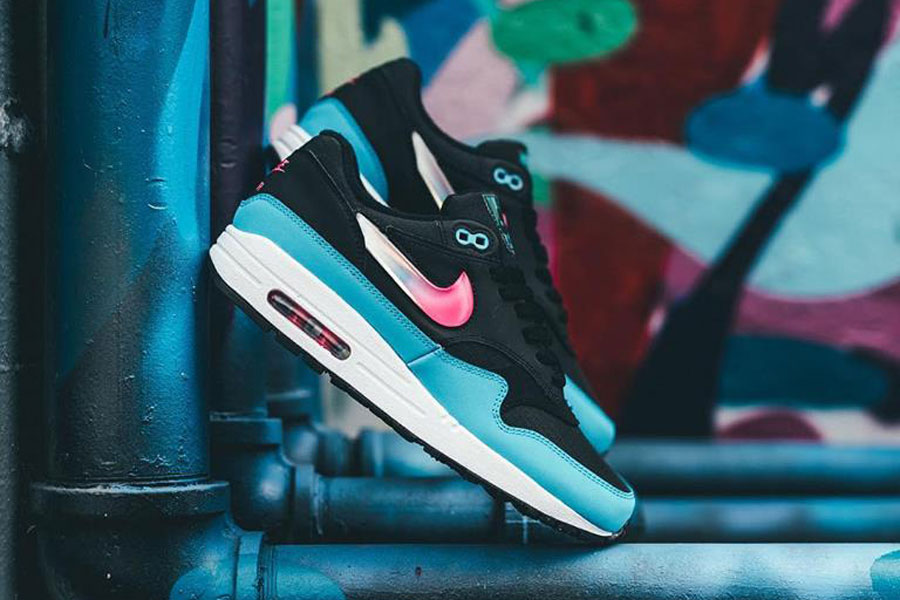 "sports shoes b73f5 87953 Nike Releases the Air Max 1 in ""Laser Fuchsia   Blue Fury"""