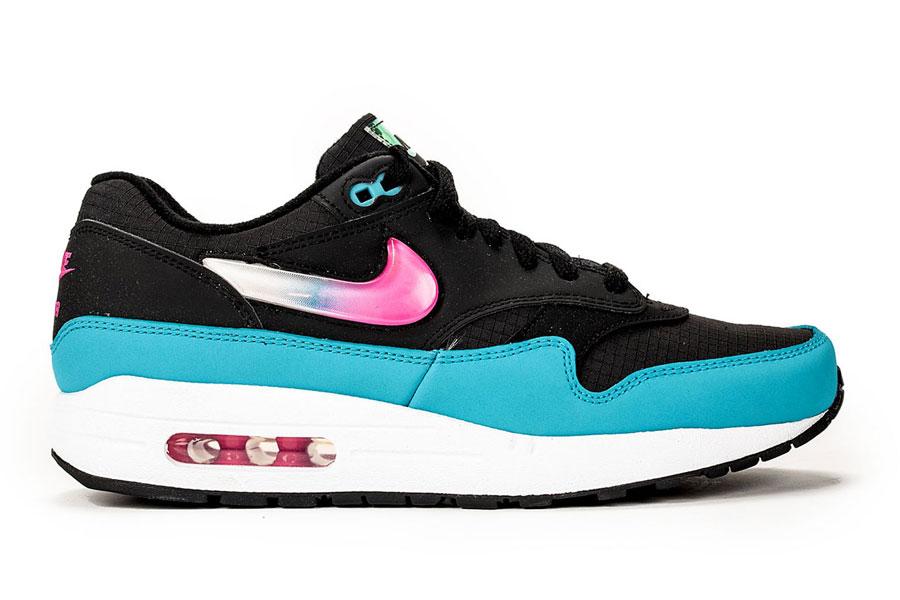 Nike Air Max 1 Laser Fuchsia Blue Fury (CI2450-001) - Side