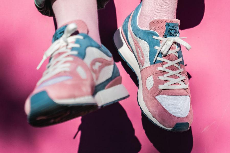 Sneakerholics x KangaROOS COIL-R1 Bubblegum - Mood 2