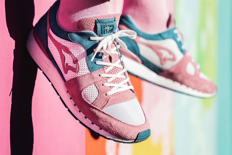 Sneakerholics x KangaROOS COIL-R1 Bubblegum - Mood 3